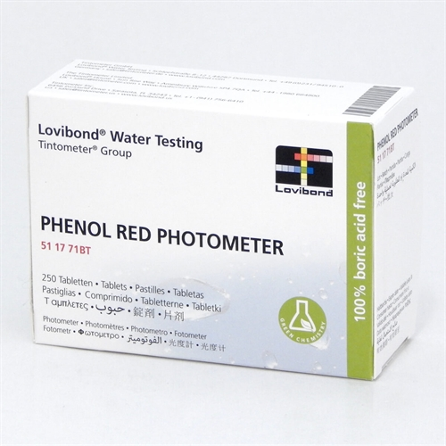 pHenolred Rapid test piller, 5 ark med 10 stk.