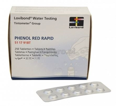 pHenolred Rapid 250 stk. PH test piller